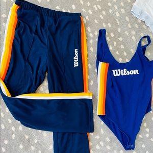 2 Piece Wilson Bodysuit & Athletic Pants